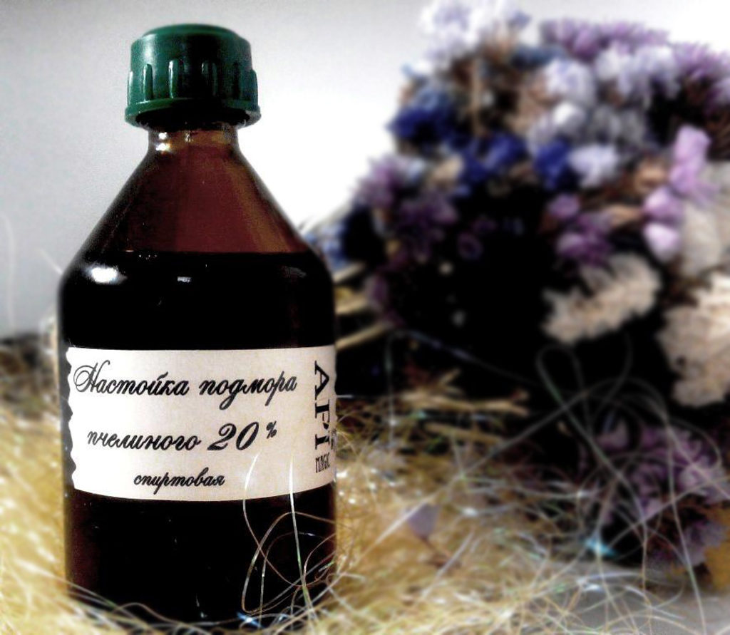 Настойка подмора пчелиного 20% спиртовая 100 мл ApiMagicGroup